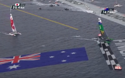 Les australiens remportent les 1 million de dollars de la Sail GP